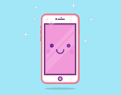 Cutie Phone Love Illustration