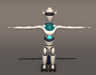 3d robo charecter design