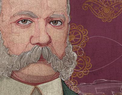 Portrait of Arthur Kavanagh, for the BBC History.