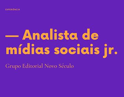 Analista de mídias sociais jr.