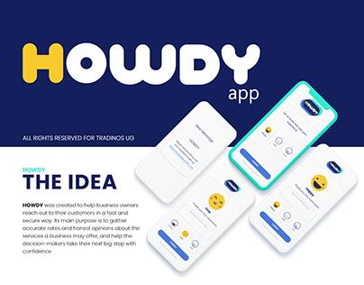 HOWDY - Branding and App design