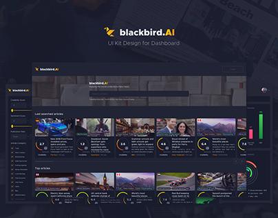 Blackbird AI – UI Kit Design for Dashboard