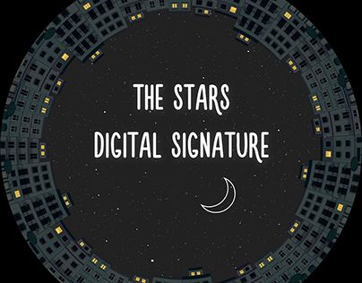 """""""The stars digital signature"""" - dome projection"""