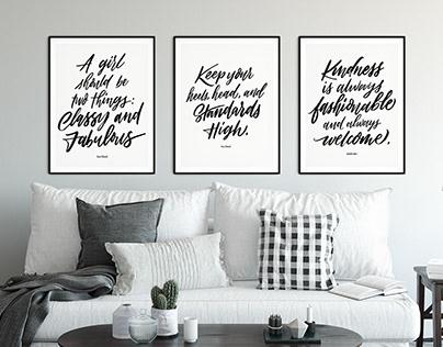 Sweet Salt Clothing Framed Lettering Series