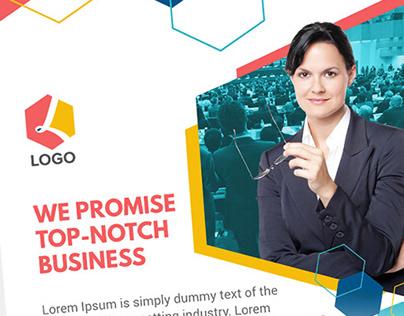 Modern Clean Minimal Business Flyer