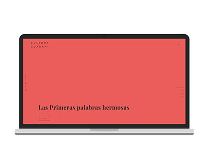 "Diseño Web ""Cultura Guarani"""