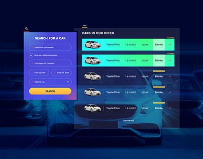Rent a Car Search Widget