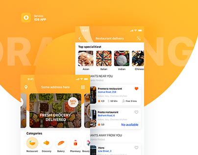 Food and services delivery iOS App