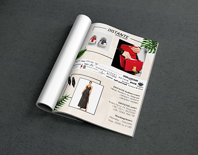Page design for magazine -Fashion