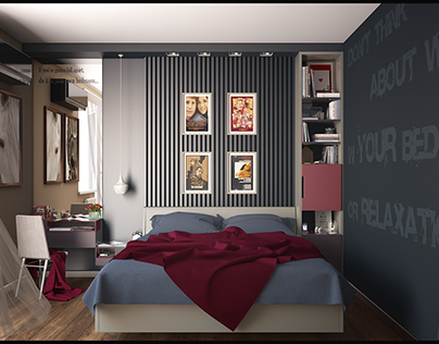 Small bedroom in Boutique style - Киев, ЖК Женева