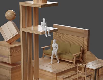 Interior Valley - 3D Concept