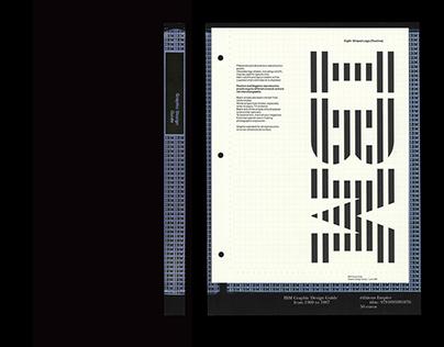 IBM, Paul Rand's Graphic Standards Manual reprint