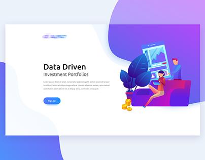UI Design for Financial App Landing Page