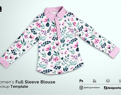 Women's Full Sleeve Blouse Mockup