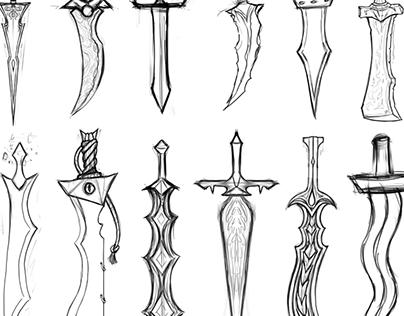 2D Concept Art: Weapons