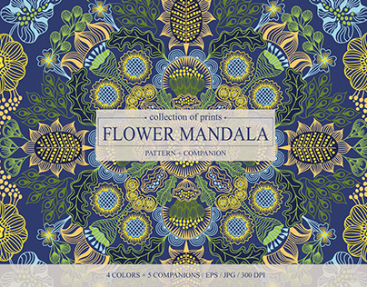 Floral Mandala collection of digital prints