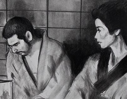 ZATOICHI... sketches from Zatoichi films.