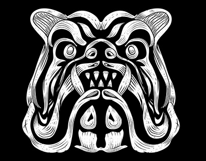 Bulldog T-Shirt Design For Print