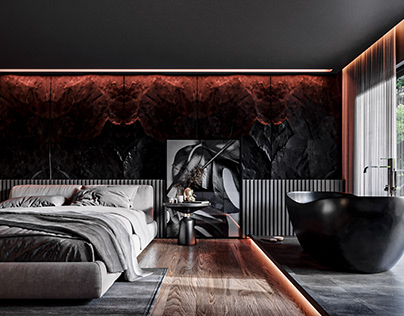 Bedroom Dark | The warm tones can make you shiver