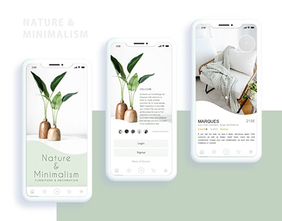 Nature & Minimalism App UI/UX