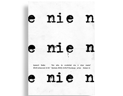 Poster for an exhibition at Arton Foundation
