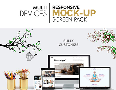 Multi Devices Responsive Screen Pack Mockup