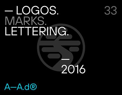 Logos. Marks. Lettering. — 2016