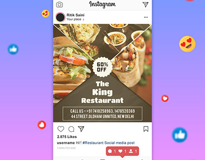 Restaurant Social Media Post + Flyer