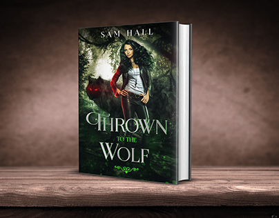 Thrown to the Wolf book cover design