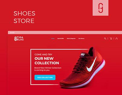 TigaBelas Shoe Shop Site