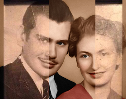 Old Vintage Family Portrait Restoration & Colorization