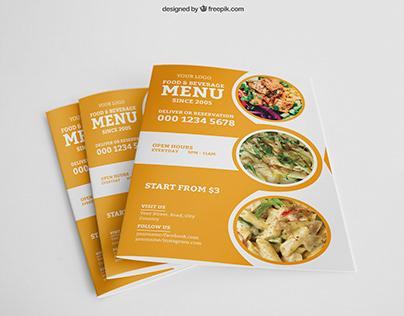 Flyer Design [ Food - Restaurant - Menu Card ]