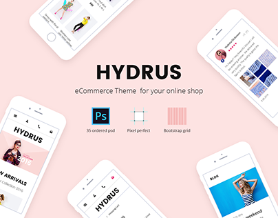 Hydrus — Fashion eCommerce PSD template