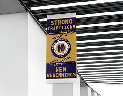Keller High School Parking Lot Banners