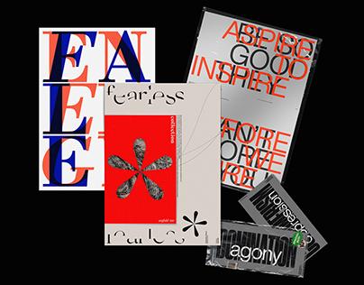 Typographic Posters using Gestalt's principles