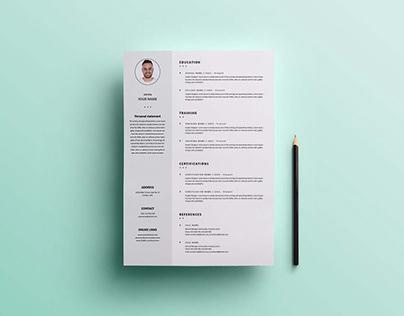 Free Formal Universal Resume Template