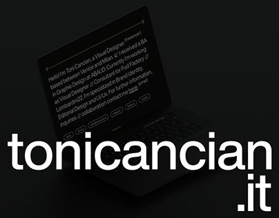 Toni Cancian - official Website ©2021