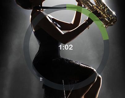 Music App Play Concept screen