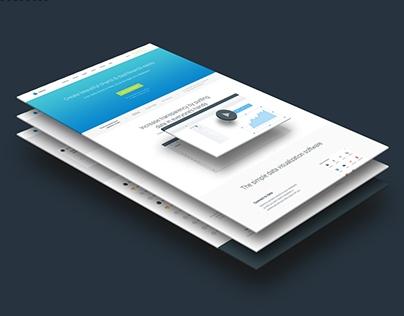Website design for Slemma — data visualization service