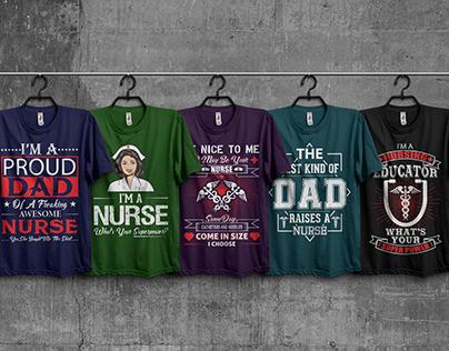 Nurse And Dad T-Shirt Design Bundle