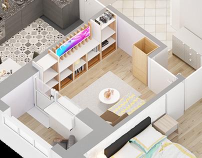 Isometric apartments 2