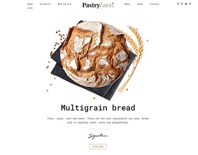 Pastry Love - Bakery and Patisserie WordPress Theme