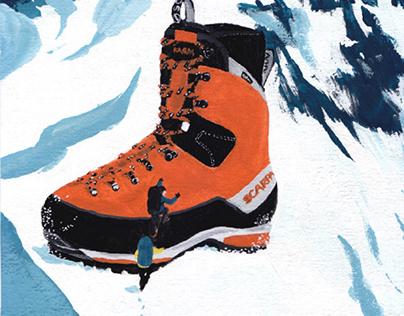 Scarpa Mont Blanc GTX (acrylics, 2021)