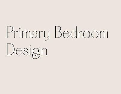Primary Bedroom   Interior Design
