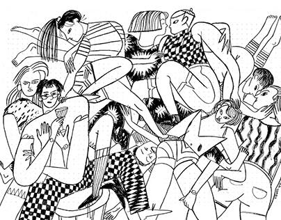 Black and white illustrations