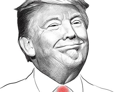 Editorial Illustration Donald Trump 2016