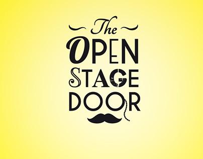 The open stage door
