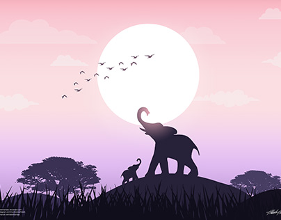 Wild Life - Silhouette Illustration