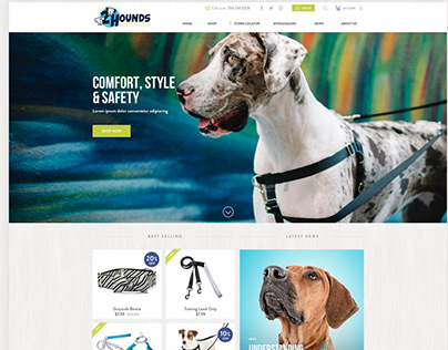 Custom WooCommerce Website - 2Hounds Design