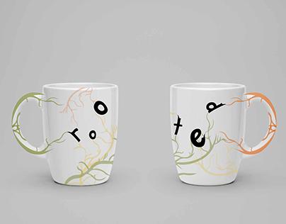 Rooted Typeface: Mug